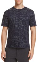 Z Zegna All Over Leaf Print Tee