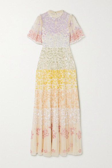 Needle & Thread Jasmine Hemsley Chakra Sequin-embellished Tulle Gown - Ecru