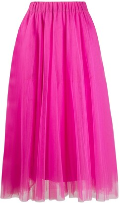 P.A.R.O.S.H. Pleated Tulle Skirt