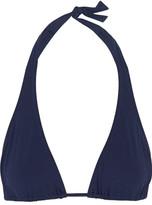 Melissa Odabash Cannes Halterneck Triangle Bikini Top - Navy