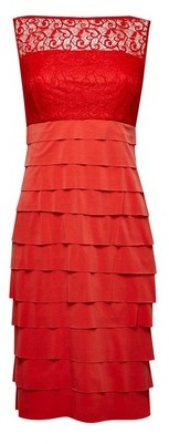 Dorothy Perkins Womens Lily And Franc Coral Shutter Bodycon Dress, Coral