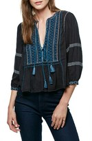 Free People Women's The Wild Life Embroidered Blouse