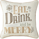 North Pole Trading Co. Eat Drink & Be Merry Decorative Pillow