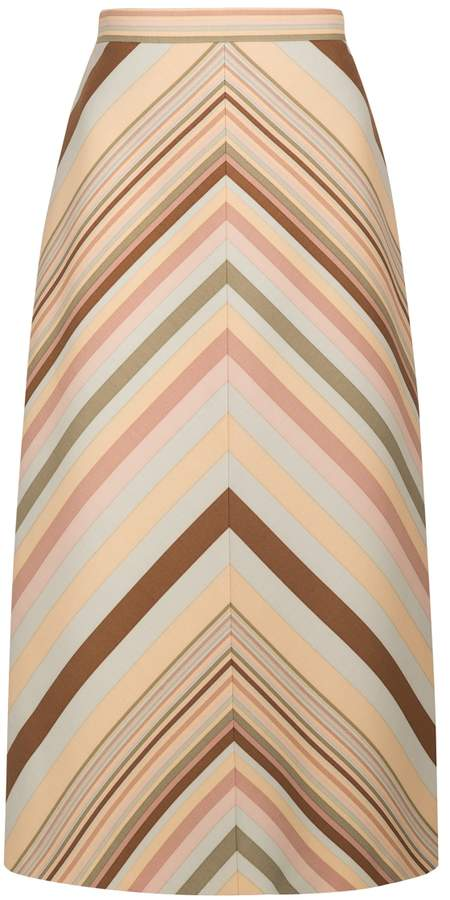 Valentino Midi Graphic Skirt