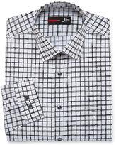 Jf J.Ferrar Easy Care Stretch Long Sleeve Woven Checked Dress Shirt