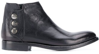 Alberto Fasciani Snap Button Ankle Boots