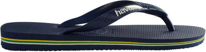 Havaianas Children's Brasil Logo Flip Flops, Navy Blue