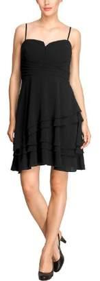 Comma Women's Pinafore dress Sleeveless Evening Dress - - (Brand size : 38)