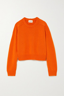 LOULOU STUDIO Bruzzi Cropped Wool And Cashmere-blend Sweater - Orange