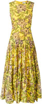 RED Valentino floral print gathered dress - women - Cotton/Silk - 40
