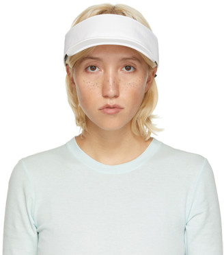 Rag & Bone White Nylon Visor Cap
