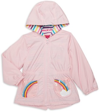 London Fog Baby Girl's Rainbow Hooded Jacket