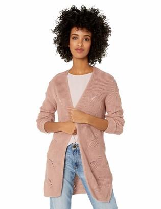 Jason Maxwell Women's Long Sleeve Lace Up Back Cardigan Sweater