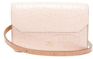 Danse Lente Gigi Xs Crocodile-effect Leather Cross-body Bag - Womens - Pink Multi
