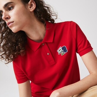 Lacoste Women's Regular Fit Cotton Pique Polo Shirt