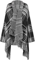 Maje Checked knitted poncho