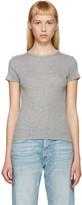 Helmut Lang Grey Cotton & Cashmere T-Shirt