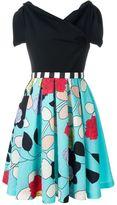 Antonio Marras floral brocade combo dress - women - Polyester/Polyamide/Acetate/Viscose - 44