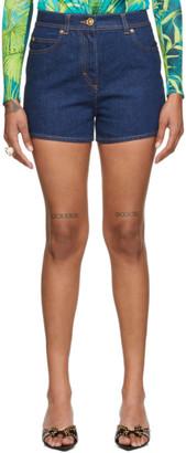 Versace Blue Logo Shorts