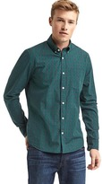 Gap True wash tartan slim fit shirt