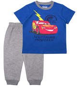 Children's Apparel Network Boys' Casual Pants BLUE - Cars Blue 'Lightning McQueen' Tee & Joggers - Infant & Toddler