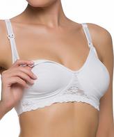 Naturana White Wireless Cotton Nursing Bra - Plus Too