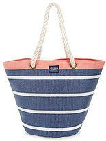 Joules Striped Rope-Handle Summer Tote