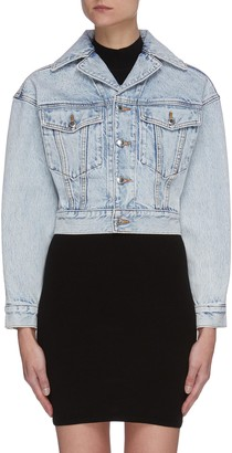 Alexander Wang Crop lapel denim jacket