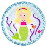 BuySeasons Mermaids Paper Dinner Plates - 8 count