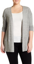 Hip Long Sleeve Open Front Cardigan (Plus Size)