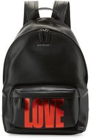 Givenchy Small Love Leather Backpack, Black/Red