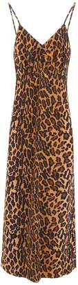 Miu Miu Leopard Print Midi Dress