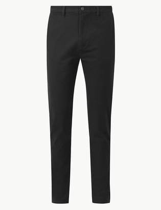 Marks and Spencer Longer Length Skinny Fit Cotton Rich Chinos