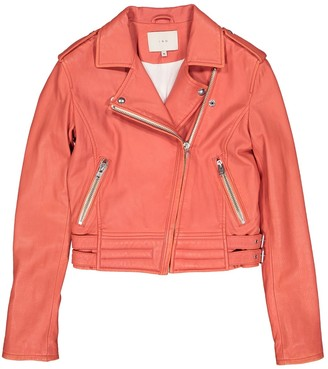 IRO Orange Leather Jackets