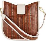 LOGO by Lori Goldstein Leather Crossbody Bag w/ Guitar Strap