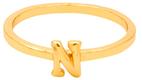 """Gorjana Alphabet Stackable """"N"""" Ring"""