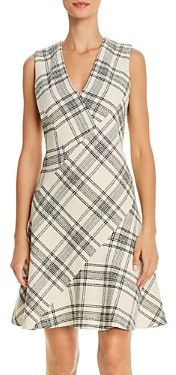 Rebecca Taylor Tailored Rebecca TaylorPlaid Bias-Cut Dress