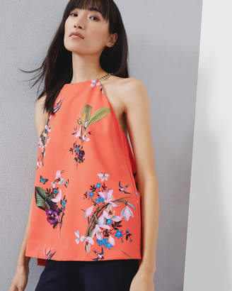 Ted Baker Tropical Oasis Chain Detail Top