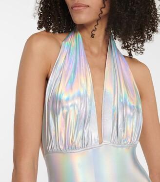 Norma Kamali Holographic swimsuit