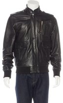 Surface to Air Leather Bomber Jacket