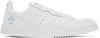 adidas White Leather Supercourt Sneakers