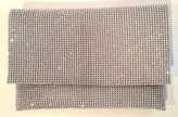 The Well Appointed House Crystal & Silver Clutch with Snap Closure - IN STOCK IN OUR GREENWICH STORE FOR QUICK SHIPPING