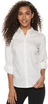 Apt. 9 Petite Poplin Structured Essential Button-Down Shirt