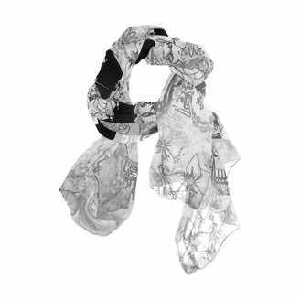 Use7 Day of the Dead Skull Retro Long Scarf Shawl Wrap