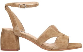 Bibi Lou Sandals In Leather Color Suede