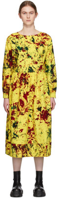 S.R. STUDIO. LA. CA. Yellow Cotton Long Sleeve Summer Dress