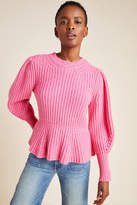 Rebecca Taylor Ribbed Peplum Sweater