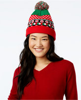 Planet Gold Juniors' Light-Up Candy Cane Beanie Hat