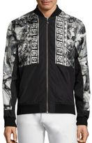 Versace Water Color Graphic Print Bomber Jacket