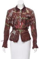Roberto Cavalli Embroidered Leather Jacket